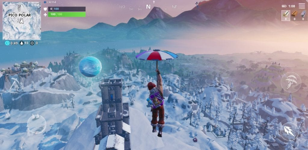 bola de nieve flotante fortnite hielo epic games