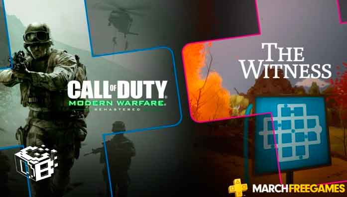 ps-plus-playstation-4-juegos-gratis-marzo-2019-call-of-duty-modern-warfare-remastered-the-witness-puzzle