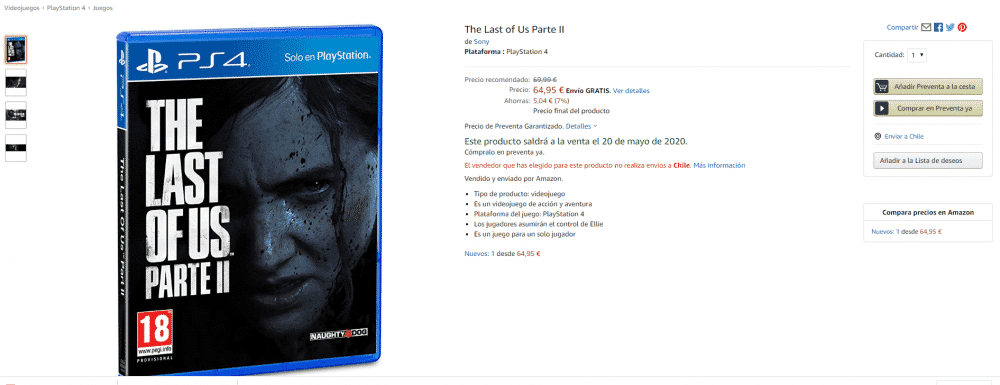 The last Of Us Part II Amazon España