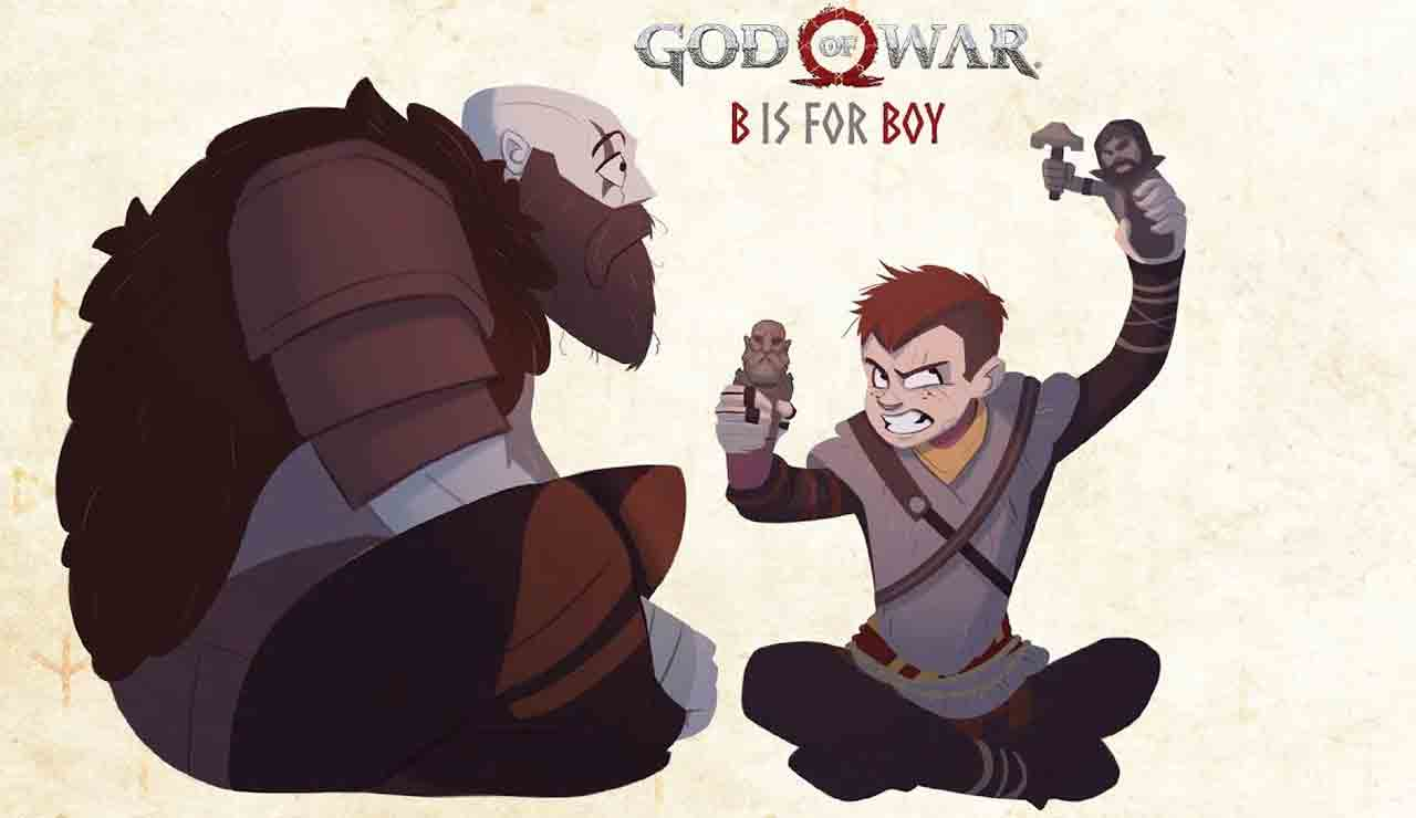 Libro infantil God Of war B is for boy