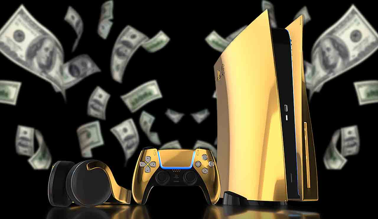 playstation 5 de oro 24 quilates
