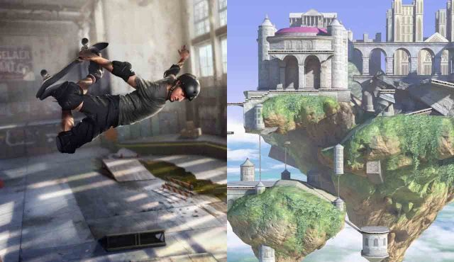 Tony Hawk's Pro Skater 1+2 mapa de smash bros