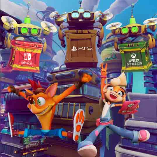 Activision confirma que Crash Bandicoot 4: It's About Time saldrá en PS5, XBS X|S, PC y NS